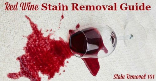 Red wine stain removal guide for clothing, upholstery and carpet {on Stain Removal 101}