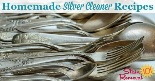 Here is a round up of silver cleaner homemade recipes that you can use today to clean your silver items, many with cleaning items you can find around your home {on Stain Removal 101}