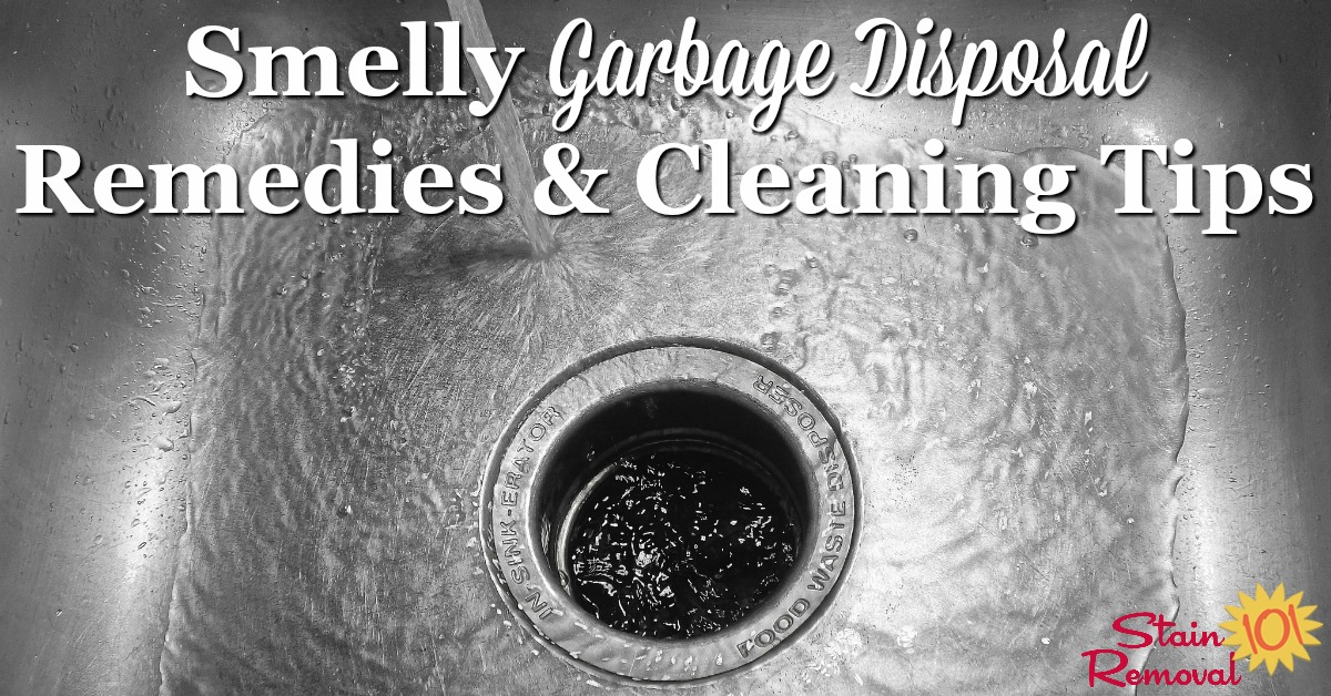 If you have a smelly garbage disposal here is a round up of tips for cleaning your disposer, removing odor, and including cleaning product reviews {on Stain Removal 101}
