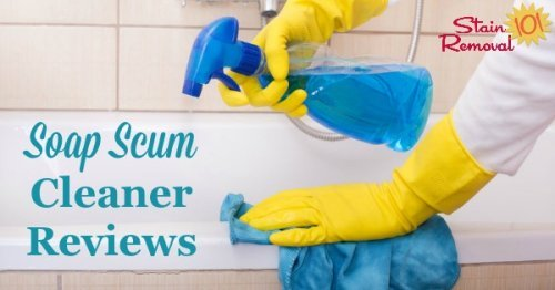 Here is a round up of soap scum cleaner and remover reviews, including general cleaners, bathroom cleaners and other specialty products, to find out which work best and which should stay on the store shelf {on Stain Removal 101}
