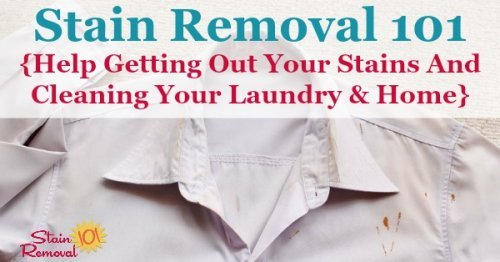 Stain Removal 101 is a busy Mom's guide to help you remove stains, wash laundry and clean your home. There are lots of practical how to articles as well as guides and reviews for various types of equipment and products you can use for these activities.