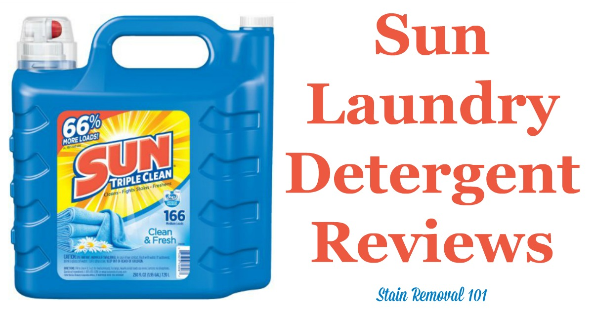 Here is a comprehensive guide about Sun laundry detergent, including reviews and ratings of this brand of laundry supply, including different scents and varieties {on Stain Removal 101}