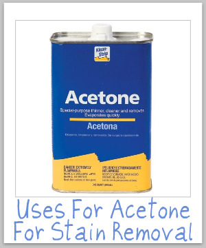 Acetone Uses For Stain Removal Amp Cleaning