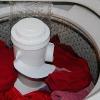washing clothes in washing machine
