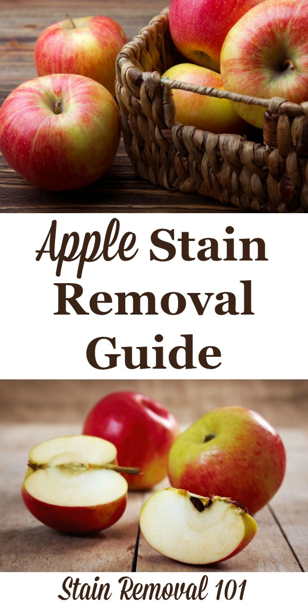 Apple stain removal guide for clothes, upholstery and carpet {on Stain Removal 101}