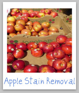 apple stain removal