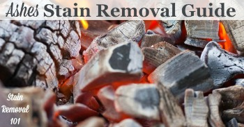 Ashes stain removal guide