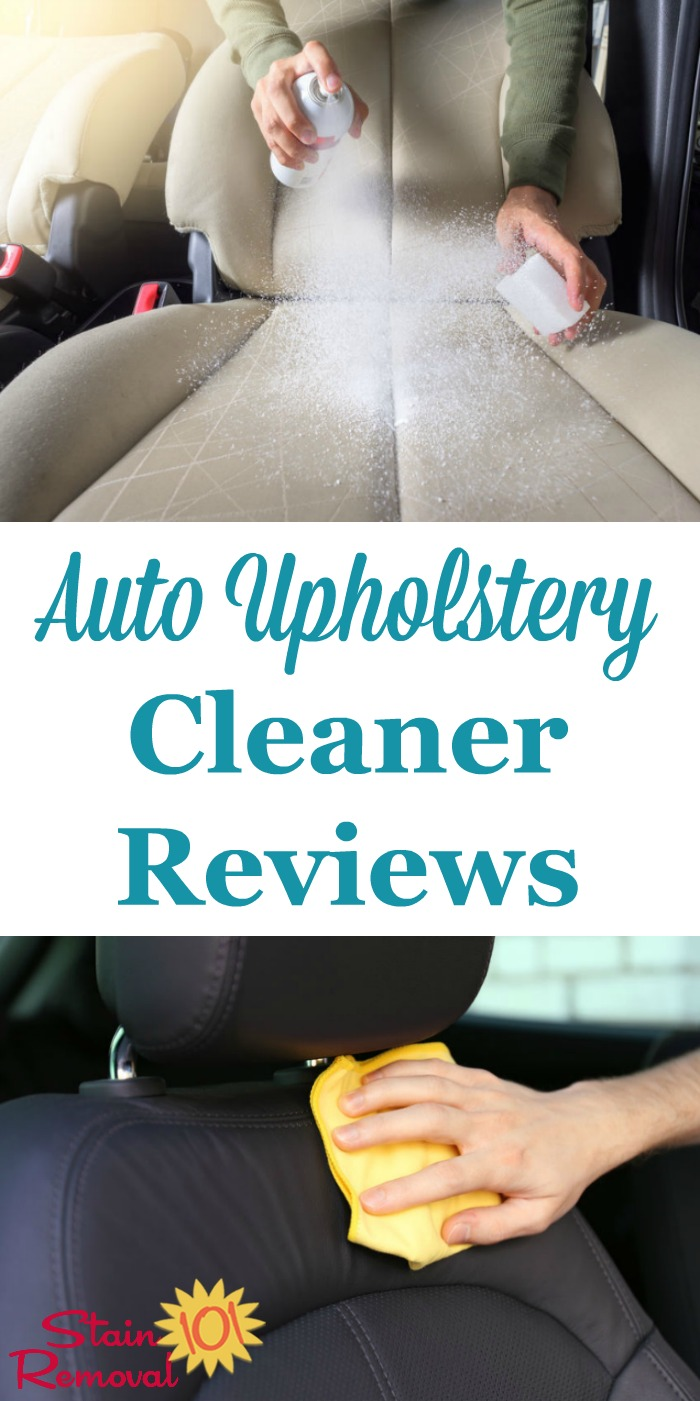 Here are lots of car and auto upholstery cleaner reviews, for both fabric and leather interiors, to find the best product to clean inside your car.