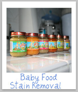 stain removal baby food