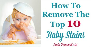 How to remove top 10 baby stains