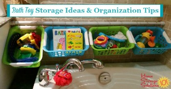 Bath toy storage ideas and organization tips