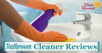 Bathroom cleaner reviews