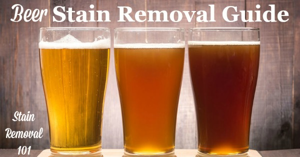 How To Remove Beer Stains