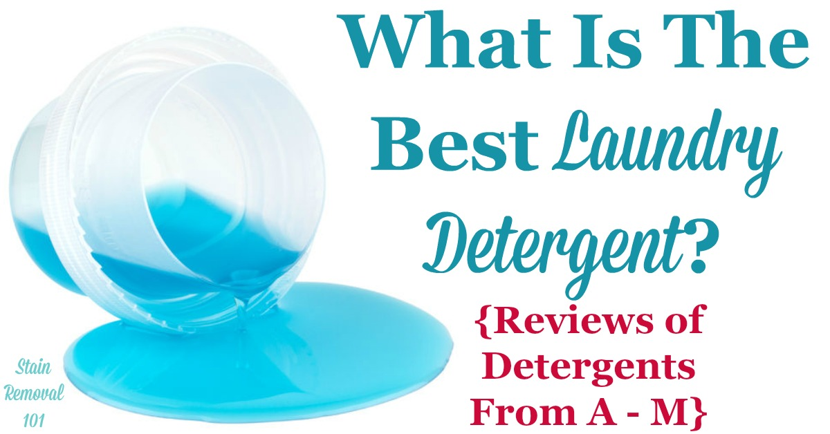 Wondering what the best laundry detergent is? It varies based on circumstances so here are over 85 pages of ratings and reviews of major brands, from products beginning with the letters A-M, to help you choose {on Stain Removal 101}