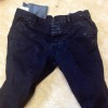black pants with white streaks