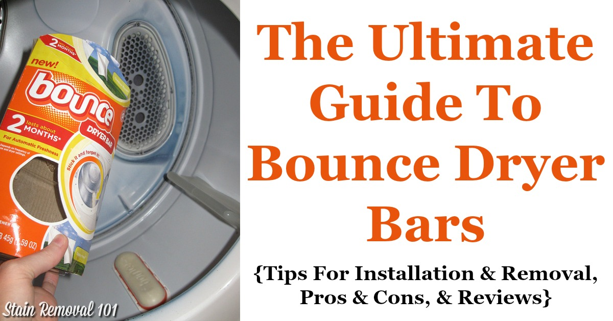 Here is the ultimate guide to Bounce dryer bar, a type of fabric softener, including how to use it, plus how to install, uninstall and refill it, including reviews of this laundry supply {on Stain Removal 101}