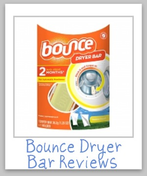 Lots of helpful info on Bounce dryer bars here, from how to install, how to uninstall and get rid of the sticky glue on your dryer, and how to remove stains caused by them when this happens. Also many reviews from readers {on Stain Removal 101}