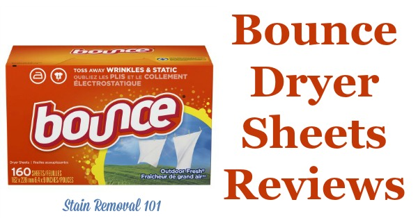 Here is a comprehensive guide about Bounce dryer sheets and fabric softener, including reviews and ratings of this brand of laundry supply for many different scents and varieties {on Stain Removal 101}