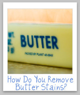 butter removal stain