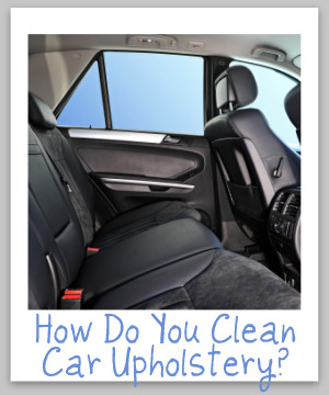 car upholstery cleaning tips
