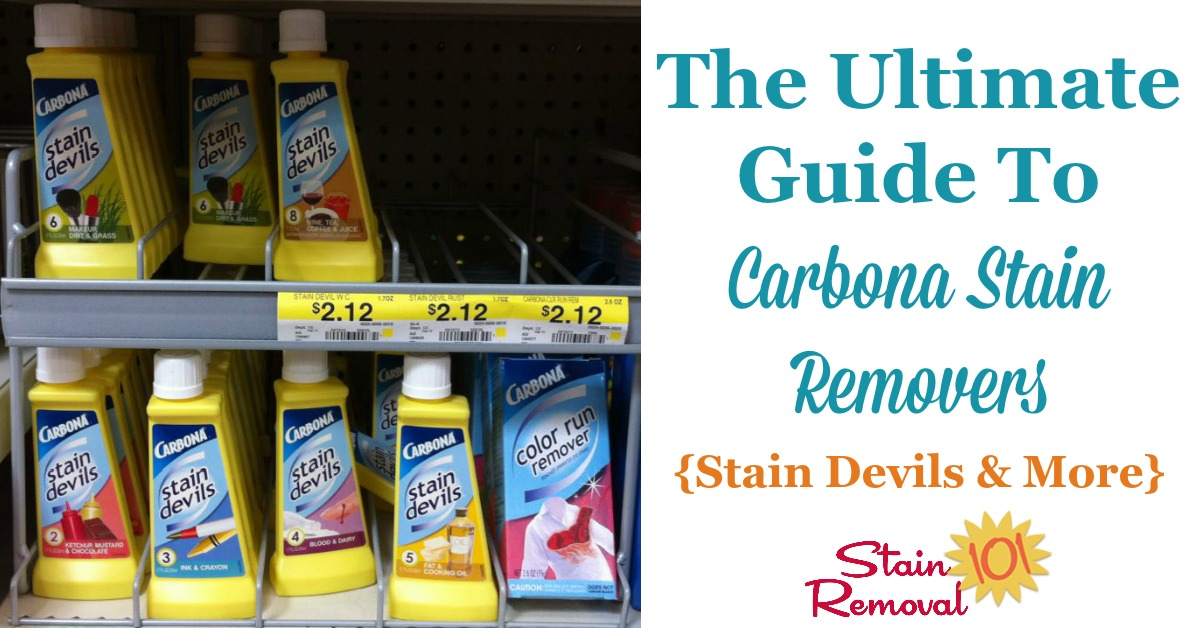Ultimate Guide To Carbona Stain Remover Products Stain