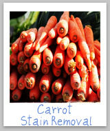 carrot juice stains