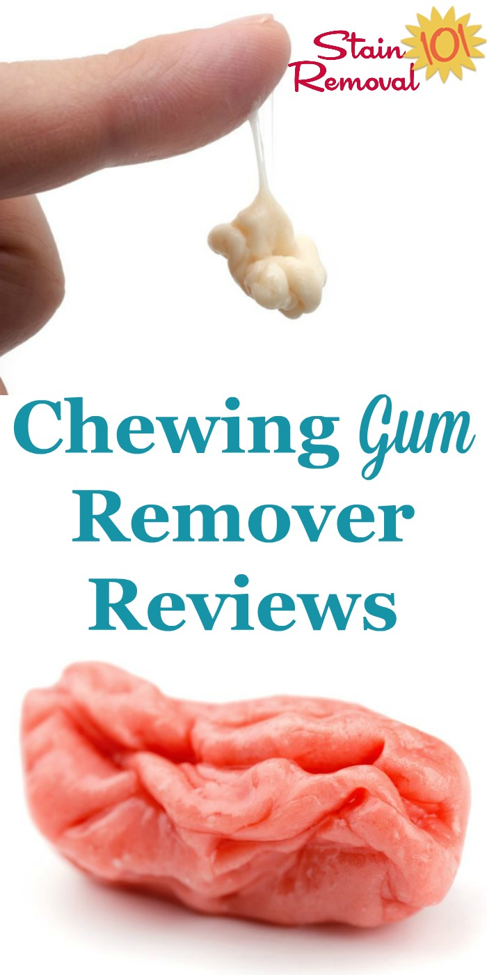 Here is a round up of chewing gum remover reviews to help you find out which gum removers actually get the job done, for clothes and fabric, hard surfaces and more {on Stain Removal 101} #ChewingGumRemover #GumRemover #GumRemoval