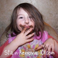 chocolate stain