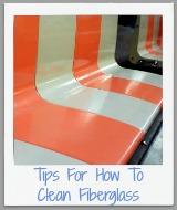 how to clean fiberglass