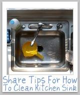 clean kitchen sinks