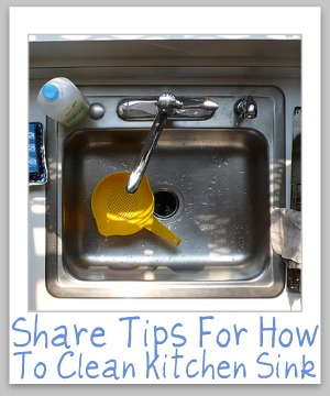 clean kitchen sinks
