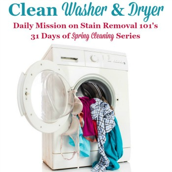 clean washer and dryer