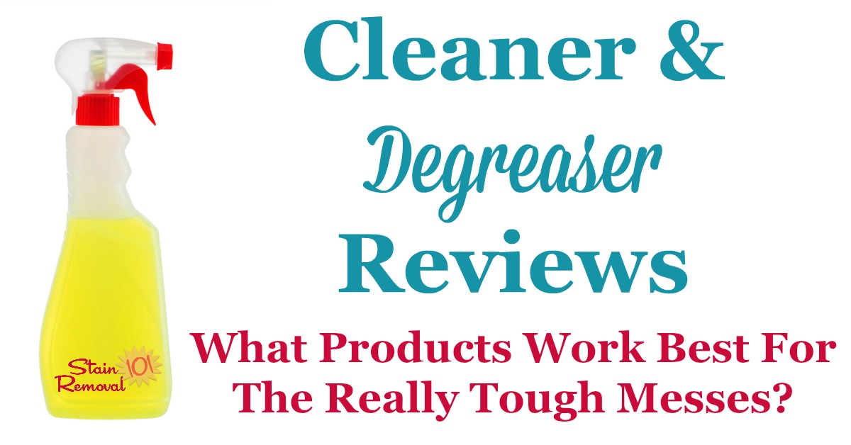 Here is a round up of cleaner degreaser reviews, and how they work on the really tough and greasy dirt and grime, to find the best products to use around your home {on Stain Removal 101}