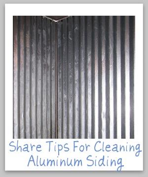 cleaning aluminum siding