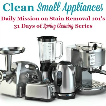 clean small appliances