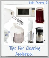 tips for cleaning appliances