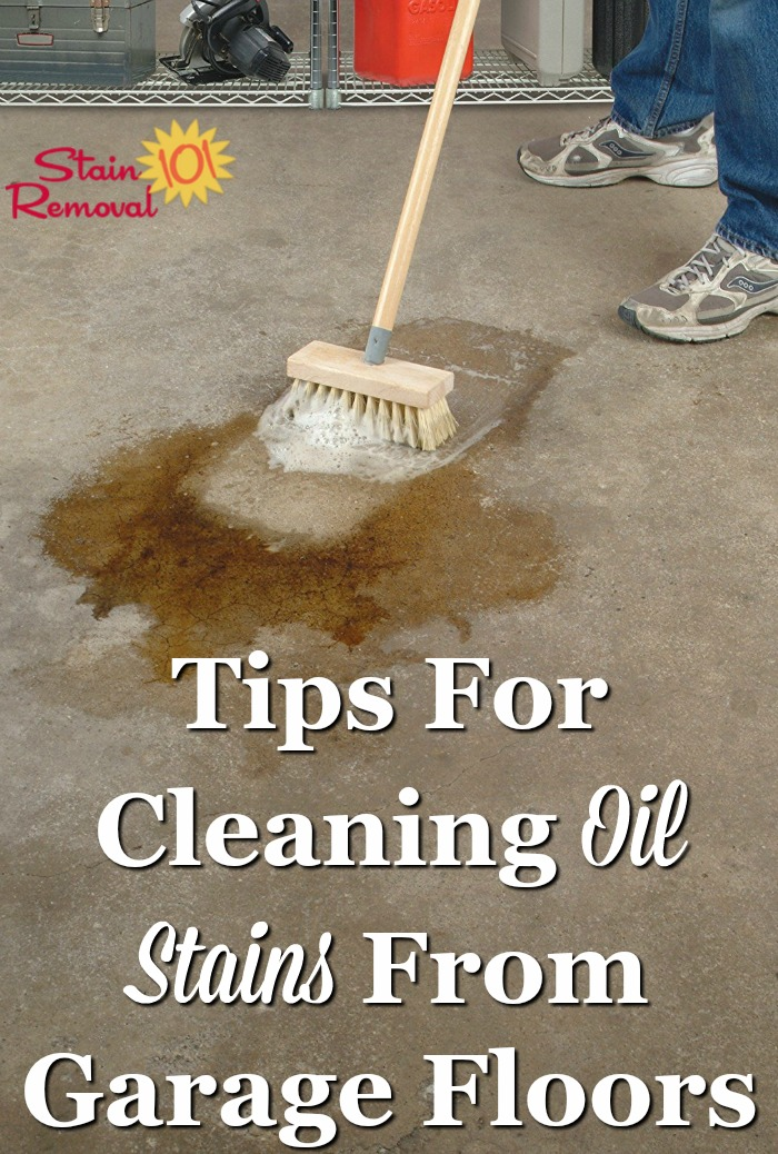 How to remove oil stains from garage floor how to remove for Remove oil from concrete floor