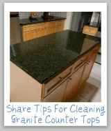 cleaning granite counter tops
