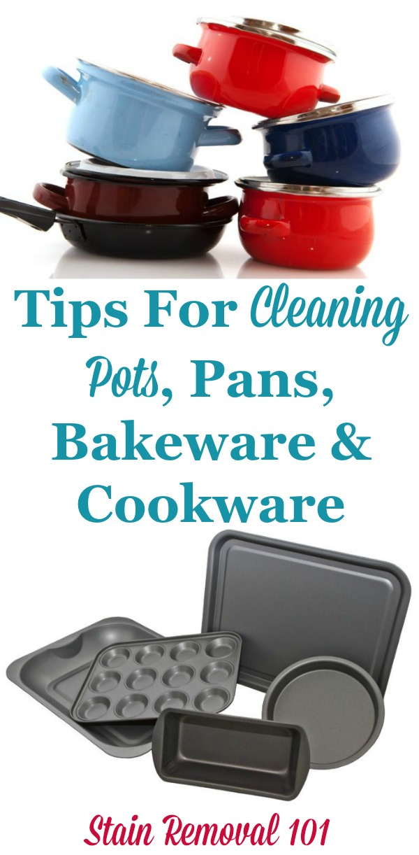 Cleaning pots pans bakeware cookware tips home remedies - Clean burnt grease oven pots pans ...