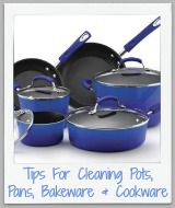 cleaning pots, pans, cookware and bakeware