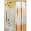 shower and bathtub, with curtain
