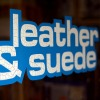 leather and suede sign