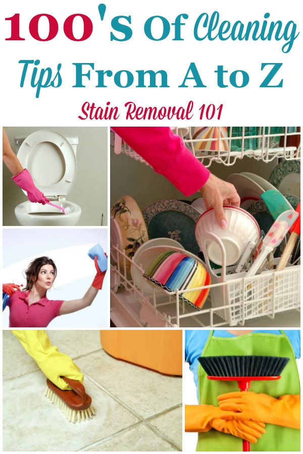 100's of house cleaning tips from A to Z {on Stain Removal 101} #CleaningTips #HouseCleaningTips #Cleaning
