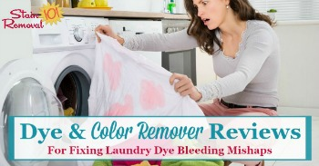 Dye and color remover reviews for fixing laundry dye bleeding mishaps