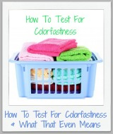 how to test for colorfastness