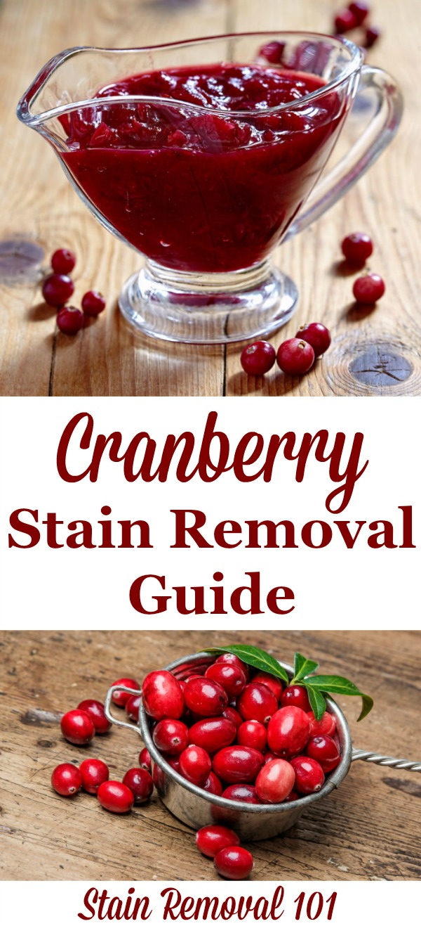 How To Remove Cranberry Stains