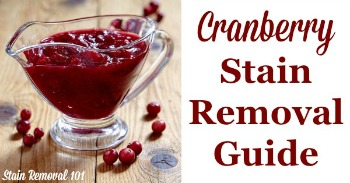 Cranberry stain removal guide