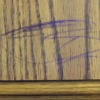 purple crayon on wood table