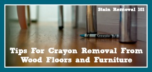 crayon on wood floor