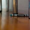 crayon on wood floor